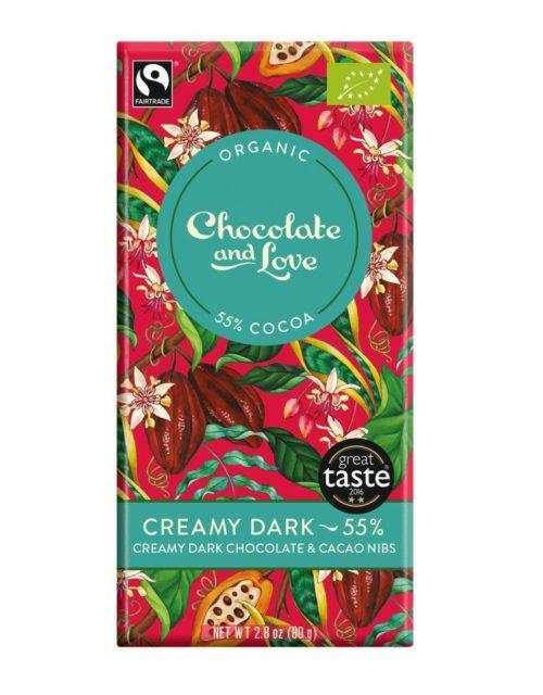 Chocolate and Love - Creamy dark 55% 80gr