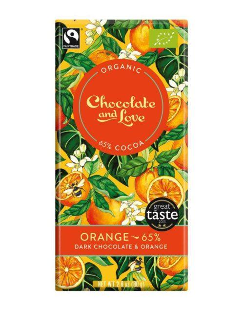 Chocolate and Love - Orange 65% 80gr