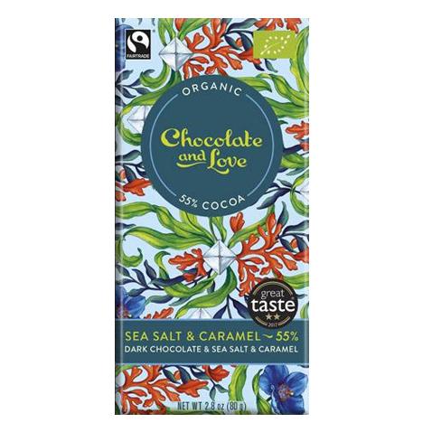 Chocolate and Love - Sea salt 55% 40gr
