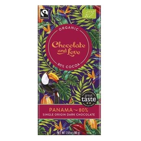 Chocolate and Love - Panama 80% 40gr