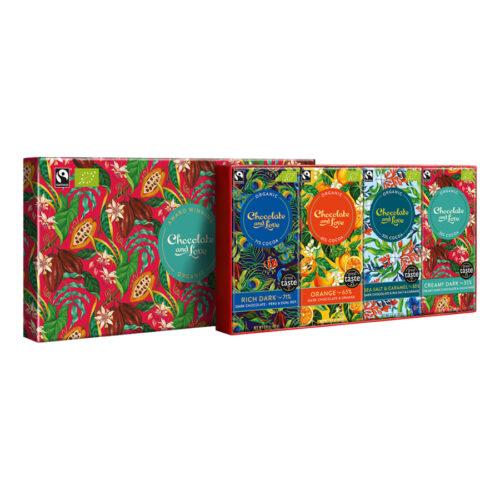 Chocolate and Love - Giftbox rich dark 4 repen