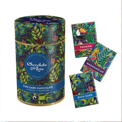 chocolate and love dark chocolate gift tin