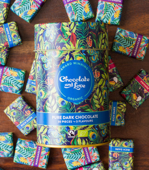chocolate and love gifttin pure dark chocolate