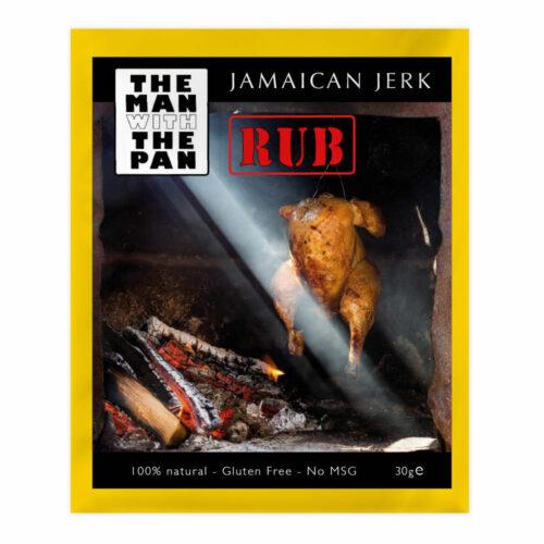 the man with the pan Jamaican jerk rub
