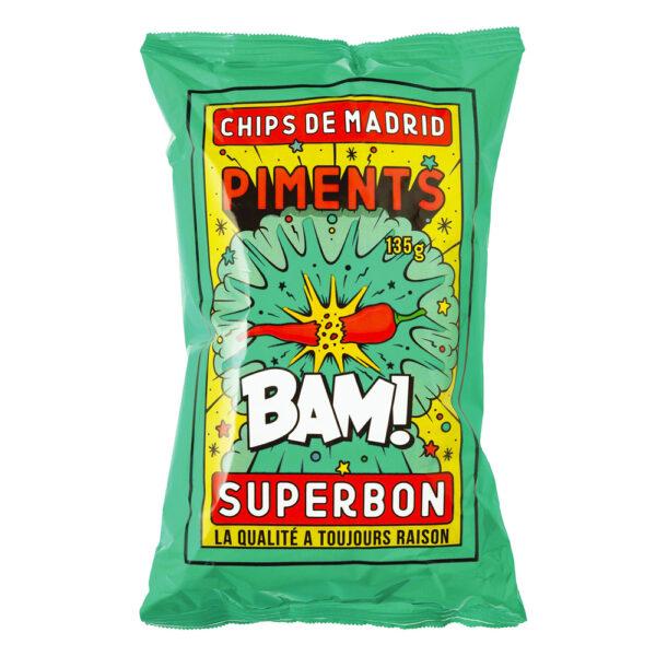 superbon paprika en chilipeper chips