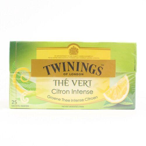 6142 twinings green lemon thee 25 zakjes in een doosje