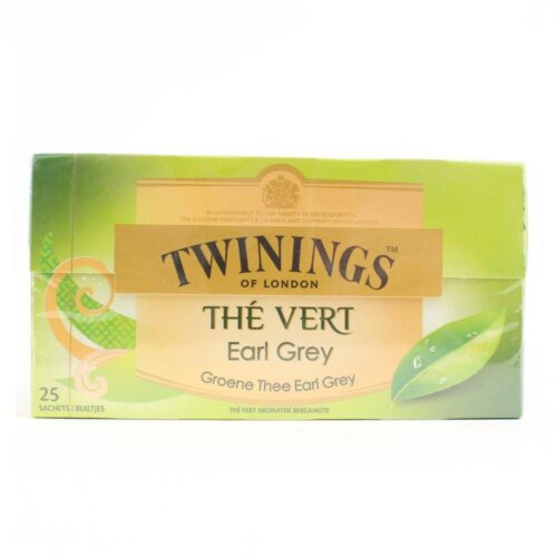 twinings groene thee earl grey 25 zakjes in een doosje
