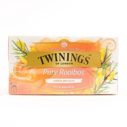 6152 twinings pure rooibos thee In een handig theezakje in een doosje zitten 25 zakjes