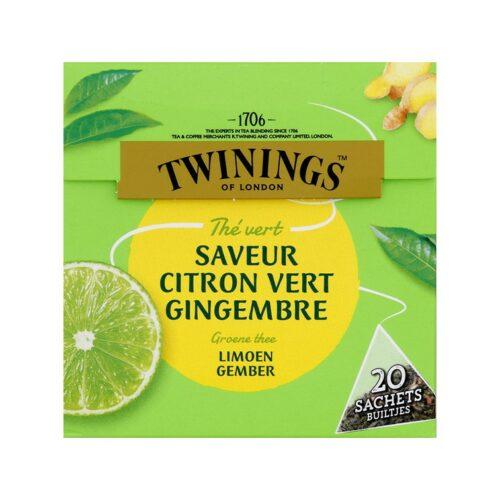 Twinings - groene thee limoen & gember