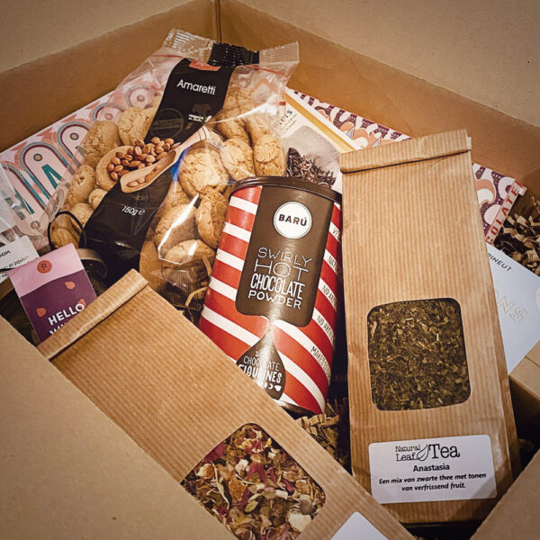 kerstpakket sweet and tea please de smaakmobiel