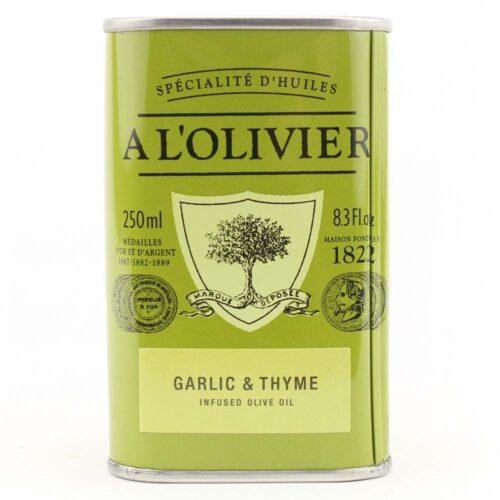 A l'Olivier - olijfolie extra vergine knoflook & tijm 250 ml