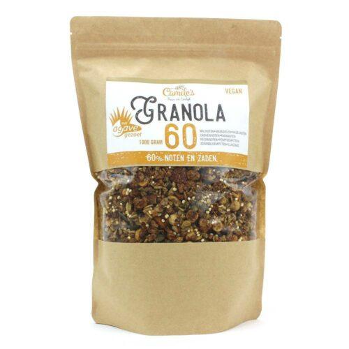 Camile's Granola granola 60% met agave 1000gr