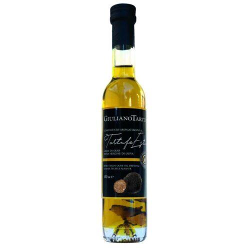 Giuliano Tartufi - olijfolie ev met stukjes zwarte truffel 100 ml