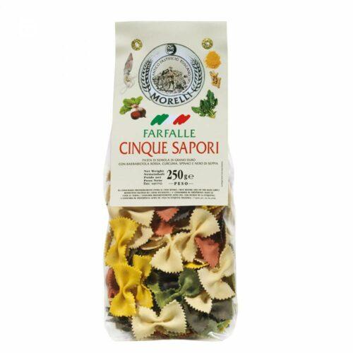 Morelli Pasta - farfalle 5 colors 250 gram