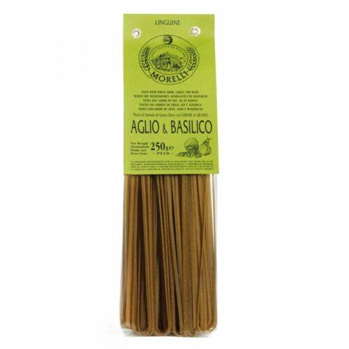Morelli Pasta - linguine garlic basil 250 gram