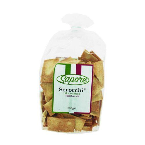 Sapore - scrocchi met knoflook 200 gr 200 gram