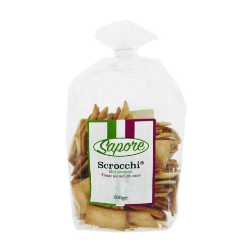 Sapore - scrocchi met zeezout 200 gram