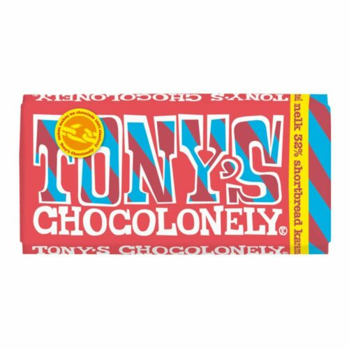 Tony's Chocolonely - melk karamel shortbread 180gr