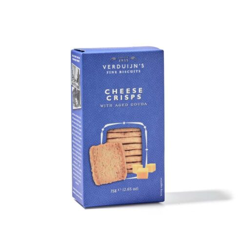 Verduijn's Fine Biscuits kaasbladerdeeg wafels 75 gram